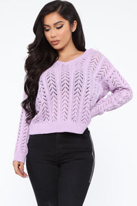 Forever Young Sweater - Lavender