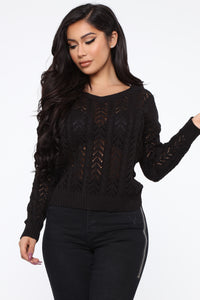 Forever Young Sweater - Black