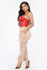 Say You'll Be Mine Corset - Red