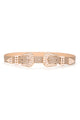 Fashionably Late Pearl Belt - Nude