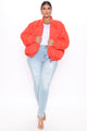 Obsessed With Me Bomber Jacket - Orange