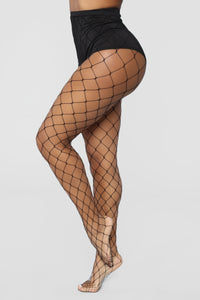 Sterling Fishnet Tights - Black