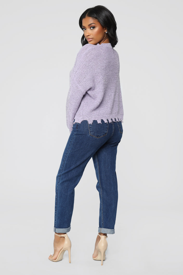 Try Me Sweater - Lavender