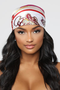 Soft As Satin Head Scarf - Red/Combo