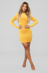 5a3ca505086700 Shoptagr | Smooth Moves Velvet Dress Mustard by Fashion Nova