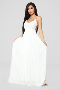 Ancient Rome Dress - White Angle 1