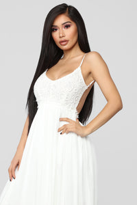 Ancient Rome Dress - White Angle 2