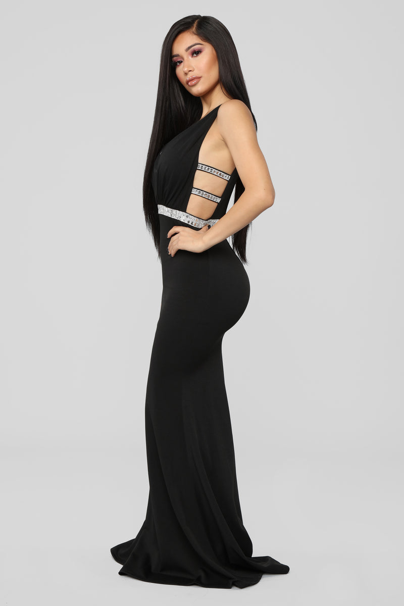 Give Me Diamonds Maxi Dress - Black