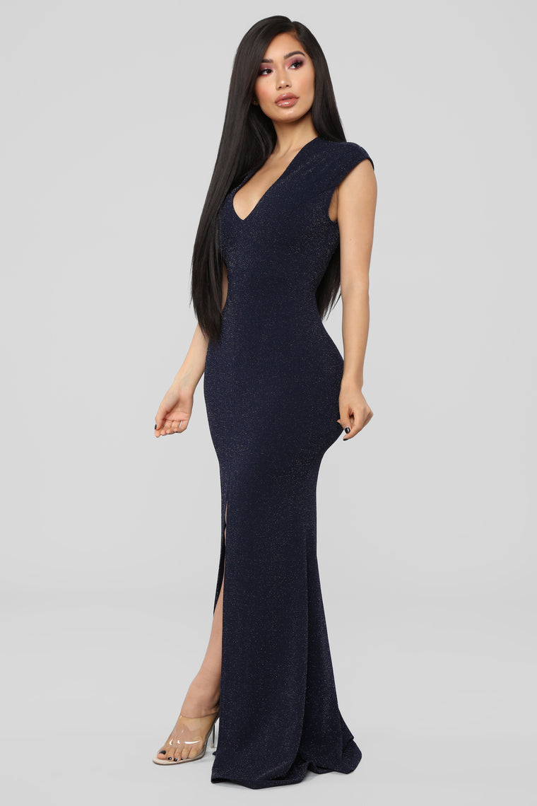 Dreaming Of You Tonight Maxi Dress - Navy