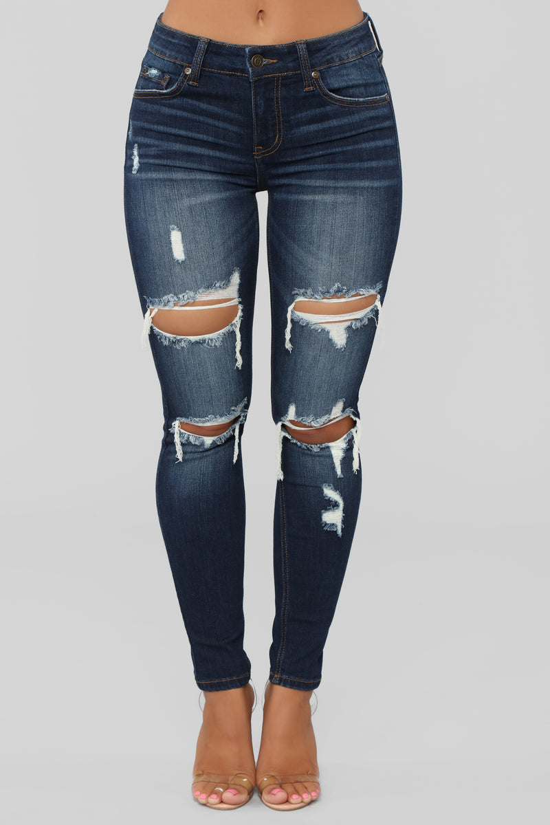 Well Played Skinny Jeans - Dark Denim