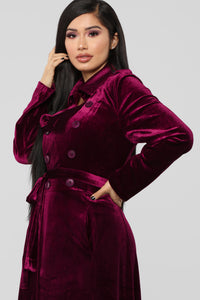 Butter You Up Jacket - Burgundy