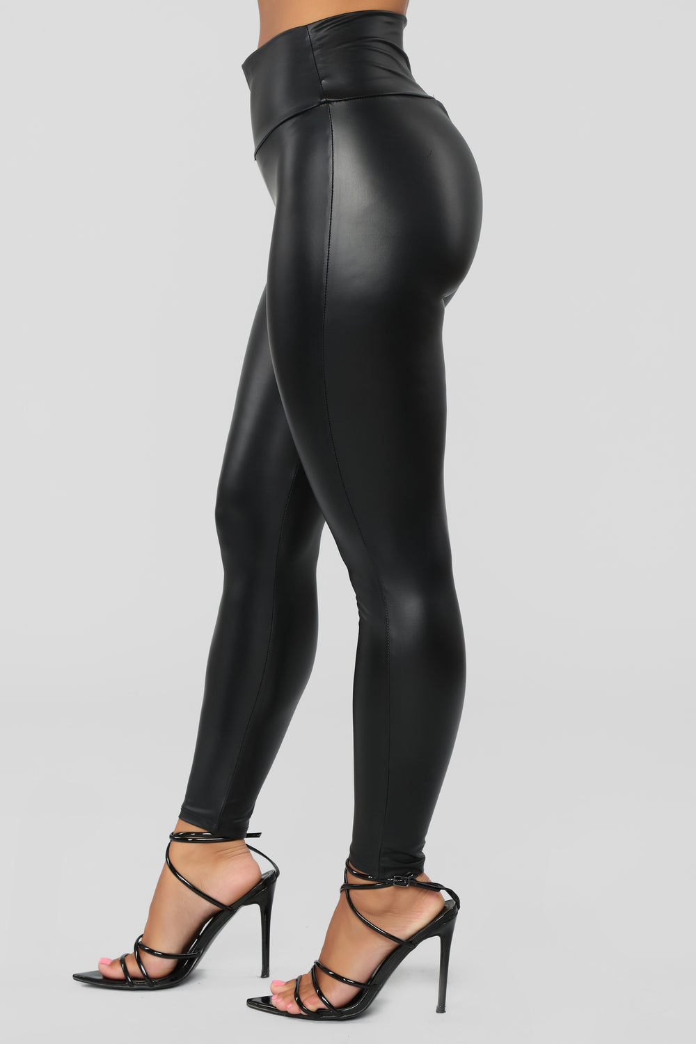 Hot To Touch PU Leggings - Black