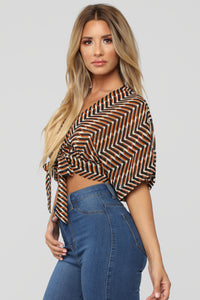 This Is Abstract Top - Orange Multi