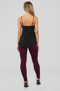 Easy Choice Stretch Ponte Pants - Purple
