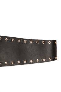 Wrapped Around You Belt - Gold/Black Angle 4