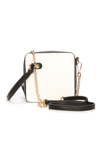 Back To Square One Handbag - Black/White