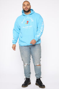 PlayStation International Hoodie - NeonBlue Angle 8