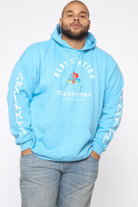 PlayStation International Hoodie - NeonBlue Angle 7