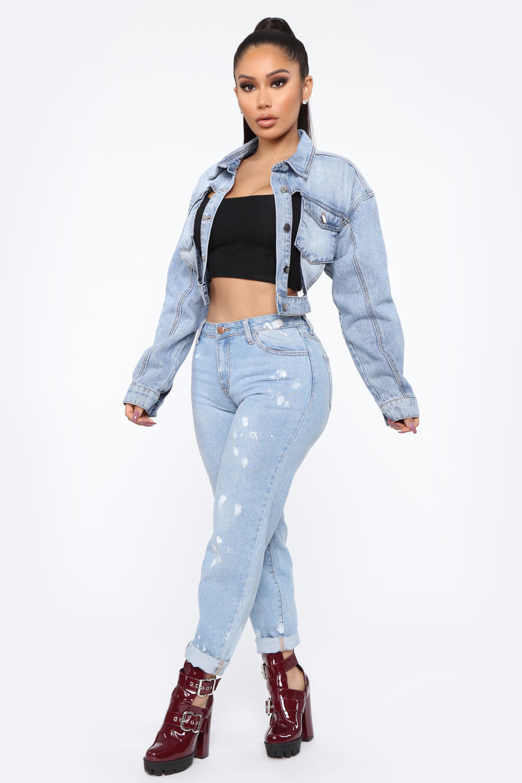 I Be Drippin' Denim Jacket - Medium Wash