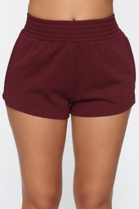 Be Right Back Shorts - Burgundy