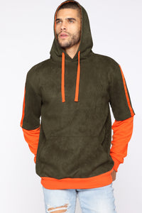 Feeling Me Softly Hoodie - Olive/combo Angle 1