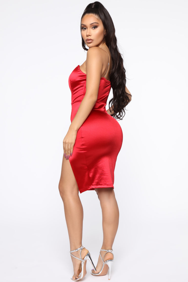 Don't Doubt Me Midi Dress - Red