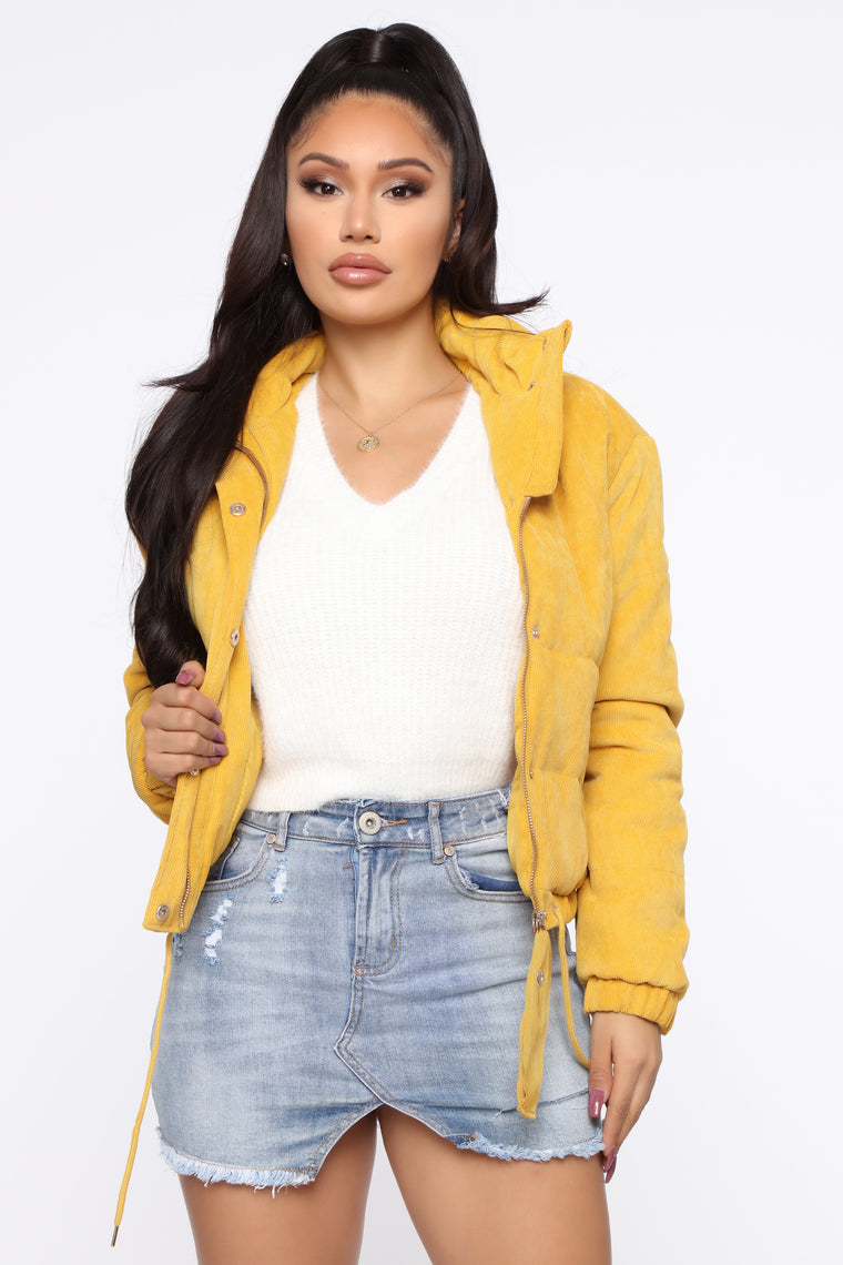 cover-your-tracks-puffer-jacket---mustard by fashion-nova