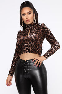 It's All Or Nothing Top - Leopard