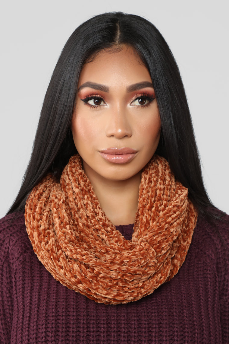 To Infinity Scarf - Rust