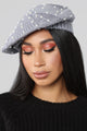 Starry Night Beret - Grey