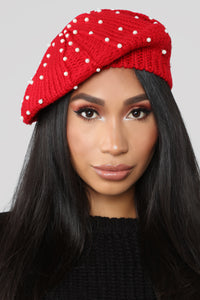 Starry Night Beret - Red