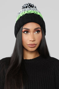 Baby It's Cold Outside Beanie - Black/Yellow