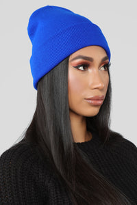 Keeping It Simple Beanie - Royal Angle 2