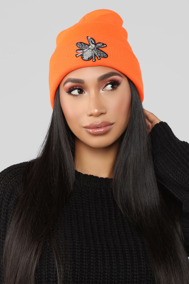 You Bug Me Beanie - Orange