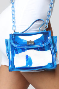 Chained To You Crossbody - Blue
