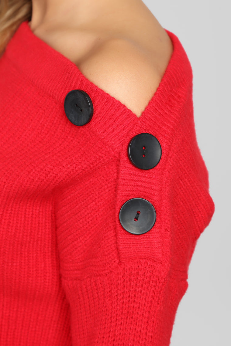 Fuego Mi Amor Sweater - Red