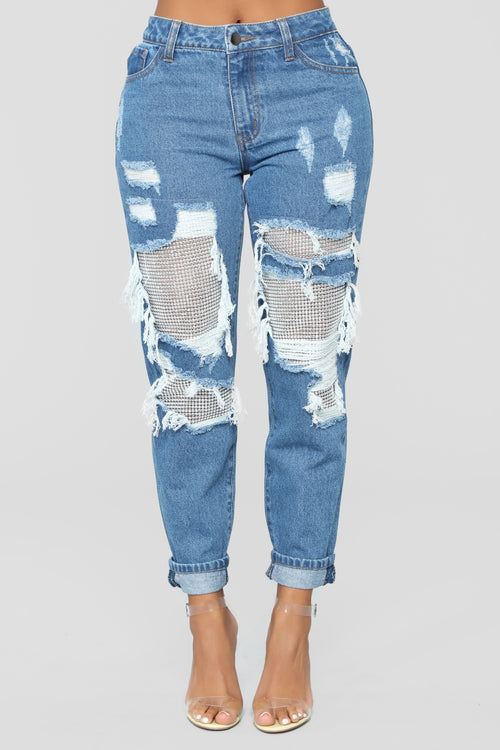 Best Of You Boyfriend Jeans - Medium Blue Wash