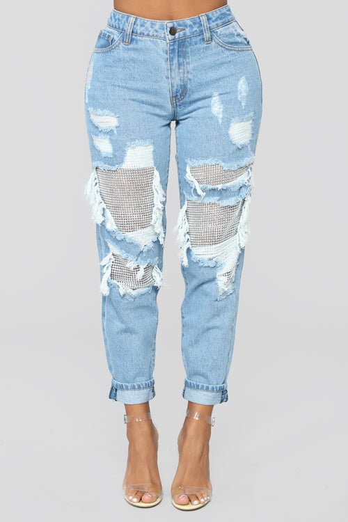 Best Of You Boyfriend Jeans - Light Blue Wash