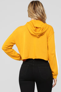 Audrey Hooded Sweatshirt - Mustard