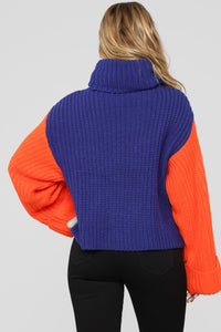 Gotta Have It Sweater - Orange Multi