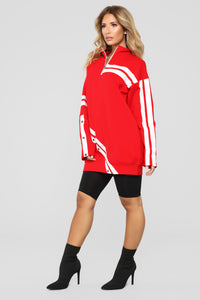 MVP Tunic Sweatshirt - Red