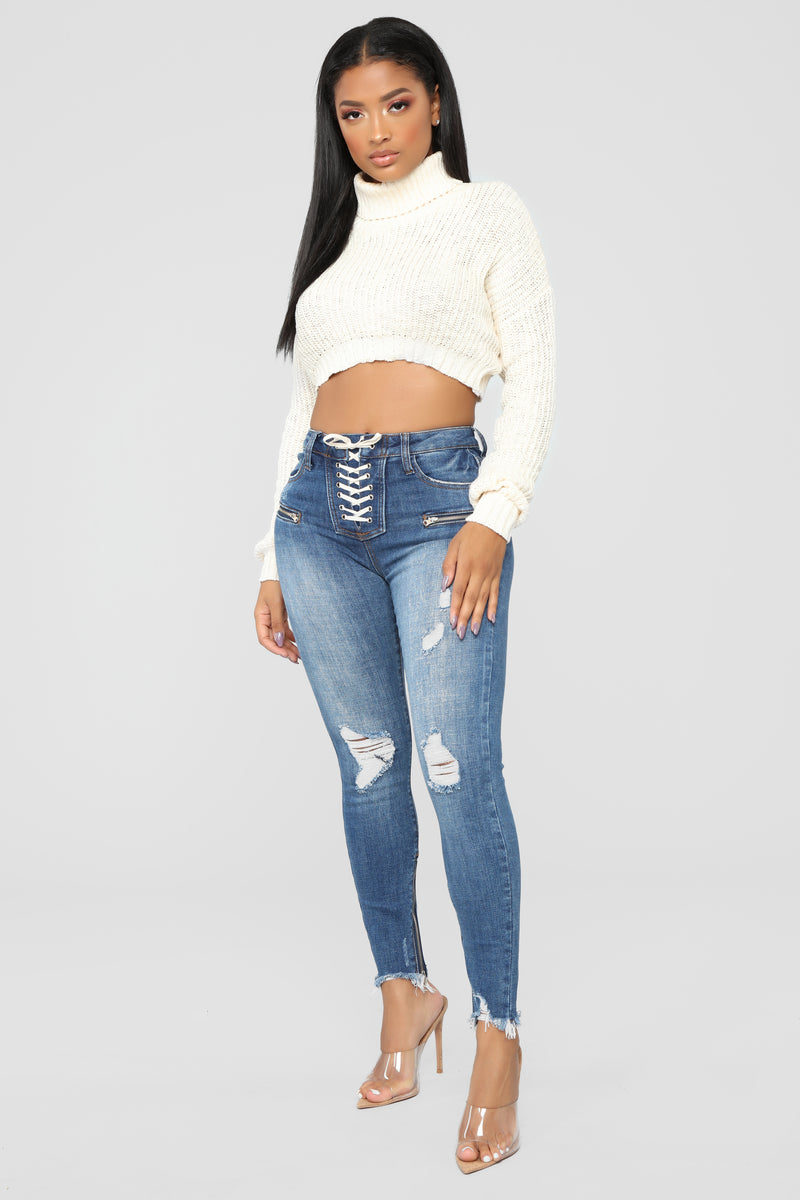 Back Seat Driver High Rise Jeans - Dark Denim