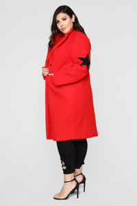 Act Like A Star Coat - Red Angle 10