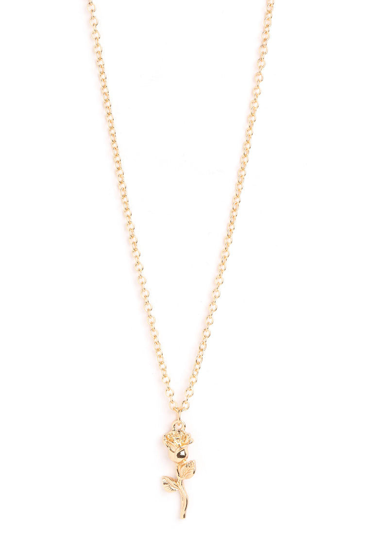 Rose To The Occasion Necklace - Gold