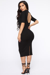 Get The Look Midi Dress - Black