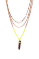 Neon Healing Stone Chain Set - Gold