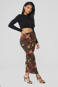 Soldier Of Love Maxi Skirt - Camo