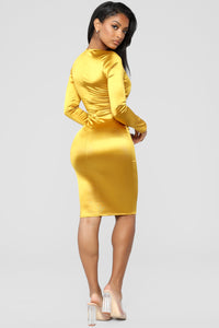 Ring Him In Dress - Mustard Angle 4