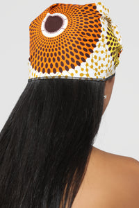 Sunny Days Head Wrap - Orange Multi