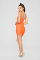 Cut To The Chase Mini Dress - Neon Orange